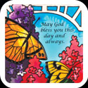 Large Magnet-LMG304-Butterfly Bush//May God bless - Butterfly Bush//May God bless