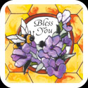 Large Magnet-LMG307-Lavender & Bee/Bless You - Lavender & Bee/Bless You