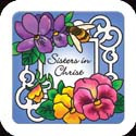 Magnet-LMG309R-Pansies//Sisters in Christ - Pansies//Sisters in Christ