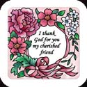 Magnet-LMG310R-Pink Petals//I thank God... - Pink Petals//I thank God for you my cherished friend.
