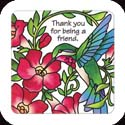 Magnet-LMG316R-Hummingbird & Red trumpet Vine//Thank you? - Hummingbird & Red trumpet Vine//Thank you for being a friend