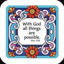 Magnet-LMG317R-Flower Links//With God all things are possible. - Flower Links//With God all things are possible. Matt. 19:26