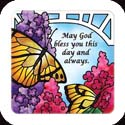 Magnet-LMG318R-Butterfly Bush//May God bless you... - Butterfly Bush//May God bless you this day and always