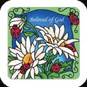 Magnet-LMG324R-Daisies & Ladybugs//Beloved of God - Daisies & Ladybugs//Beloved of God