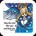 Magnet-LMG325R-Angel//may the Lord bless you... - Angel//may the Lord bless you and keep you.  Num. 6:24