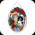 Suncatcher-LO027-Christmas Kittens/Merry Christmas - Christmas Kittens/Merry Christmas