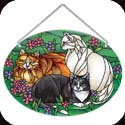 Suncatcher-LO046R-Tiffany Cats - Tiffany Cats