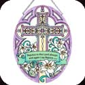 Suncatcher-LO080R-Cross/Rejoice in the Lord always, and again... - Cross/Rejoice in the Lord always, and again I say rejoice.  Phil. 4:4