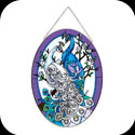 Suncatcher-LO110-White/Blue Peacocks - White/Blue Peacocks