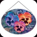 Suncatcher-LO115R-Pansies/Trust in the Lord - Pansies/Trust in the Lord