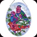 Suncatcher-LO116R-Patterned Birds/God bless our home  - Patterned Birds/God bless our home