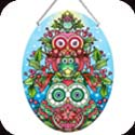 Suncatcher-LO129R-Holiday Owl Stack - Holiday Owl Stack