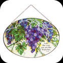 Suncatcher-LO174-Grape Arbor/I am the vine... - Grape Arbor/I am the vine; you are the branches. Jn. 15:5