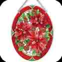 Suncatcher-LO184R-Poinsettias - Poinsettias