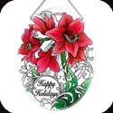 Suncatcher-LO215R-Amaryllis//Happy Holidays - Amaryllis//Happy Holidays