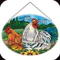 Suncatcher-LO218R-Country French Hens and Rooster/This is the day that the Lord has made; let us rejoice and be... - Country French Hens and Rooster/This is the day that the Lord has made; let us rejoice and be glad in it. Ps. 118:24