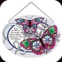 Suncatcher-LO243R-Stylized Butterflies/For I am the LORD, your God, who takes hold of your right hand and says to... - Stylized Butterflies/For I am the LORD, your God, who takes hold of your right hand and says to you, ?Do not fear; I will help you.?  Is. 41:13