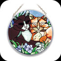 Suncatcher-MC080-Tiffany Cats - Tiffany Cats