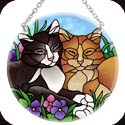 Suncatcher-MC080R-Tiffany Cats - Tiffany Cats