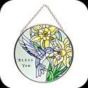 Suncatcher-MC082-Hummingbird/BLESS YOU - Hummingbird/BLESS YOU