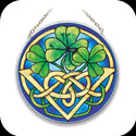 Suncatcher-MC135-Irish Tiffany - Irish Tiffany
