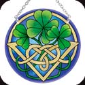 Suncatcher-MC135R-Irish Tiffany - Irish Tiffany