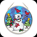 Suncatcher-MC147-Cat Snowman - Cat Snowman
