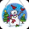 Suncatcher-MC147R-Cat Snowman - Cat Snowman