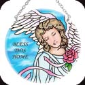 Suncatcher-MC161R-Angels of Heaven/BLESS THIS HOME - Angels of Heaven/BLESS THIS HOME