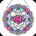 Suncatcher-MC172R-Floral/MOM you are loved - Floral/MOM you are loved