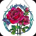 Suncatcher-MC186R-Pink Roses - Pink Roses
