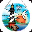 Suncatcher-MC191R-Lighthouse/The Lord is my light and... - Lighthouse/The Lord is my light and my salvation. Ps. 27:1