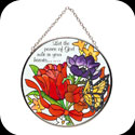 Suncatcher-MC263-Jewel Bouquet/Let the peace of God... - Jewel Bouquet/Let the peace of God rule in your heart. Col. 3:15