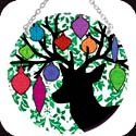 Suncatcher-MC264R-Deer & Ornaments - Deer & Ornaments
