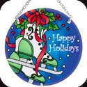 Suncatcher-MC268R-Ice Skates//Happy Holidays - Ice Skates//Happy Holidays