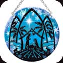 Suncatcher-MC321R-Nativity Silhouette - Nativity Silhouette
