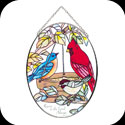 Suncatcher-MO131-Birds of a Feather/Rejoice in the... - Birds of a Feather/Rejoice in the Lord Always. Phil. 4:4