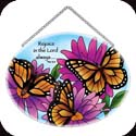 Suncatcher-MO136R-Monarch Butterflies/Rejoice in the... - Monarch Butterflies/Rejoice in the Lord always Phil. 4:4