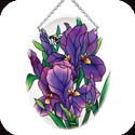 Suncatcher-MO181R-Purple Irises - Purple Irises