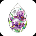 Suncatcher-MO196-Purple Irises/Where there is love, there is life. - Purple Irises/Where there is love, there is life.
