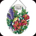 Suncatcher-MO197R-Hummingbird & Lilies/Great is Thy Faithfulness! - Hummingbird & Lilies/Great is Thy Faithfulness!