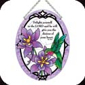 Suncatcher-MO209R-Botanical Columbine/Delight yourself in... - Botanical Columbine/Delight yourself in the Lord and He will give you the desires of your heart. Ps. 37:4
