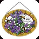 Suncatcher-MO260R-Lavender & bees/The earth s full of His unfailing love - Lavender & bees/The earth s full of His unfailing love. Ps. 33:5