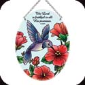 Suncatcher-MO262R-Red Meadow/Hummingbird/The Lord is faithful... - Red Meadow/Hummingbird/The Lord is faithful to all His promises. Ps. 145:13