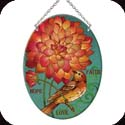 Suncatcher-MO274R-Birds & Orange Flower/Faith Hope Love - Birds & Orange Flower/Faith Hope Love