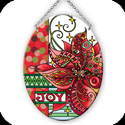 Suncatcher-MO276R-Poinsettia/JOY - Poinsettia/JOY