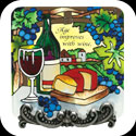 Message Plaque-MP1047-Wine Country/Age imProv.es with wine - Wine Country/Age imProv.es with wine