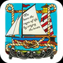 Message Plaque-MP1061-Sailboat/We learn the ropes... - Sailboat/We learn the ropes of life by untying the knots