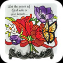 Message Plaque-MP1076-Jewel Bouquet/Let the peace of God... - Jewel Bouquet/Let the peace of God rule in your heart.  Col. 3:15