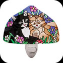 Nightlight-NL1015-Tiffany Cats - Tiffany Cats
